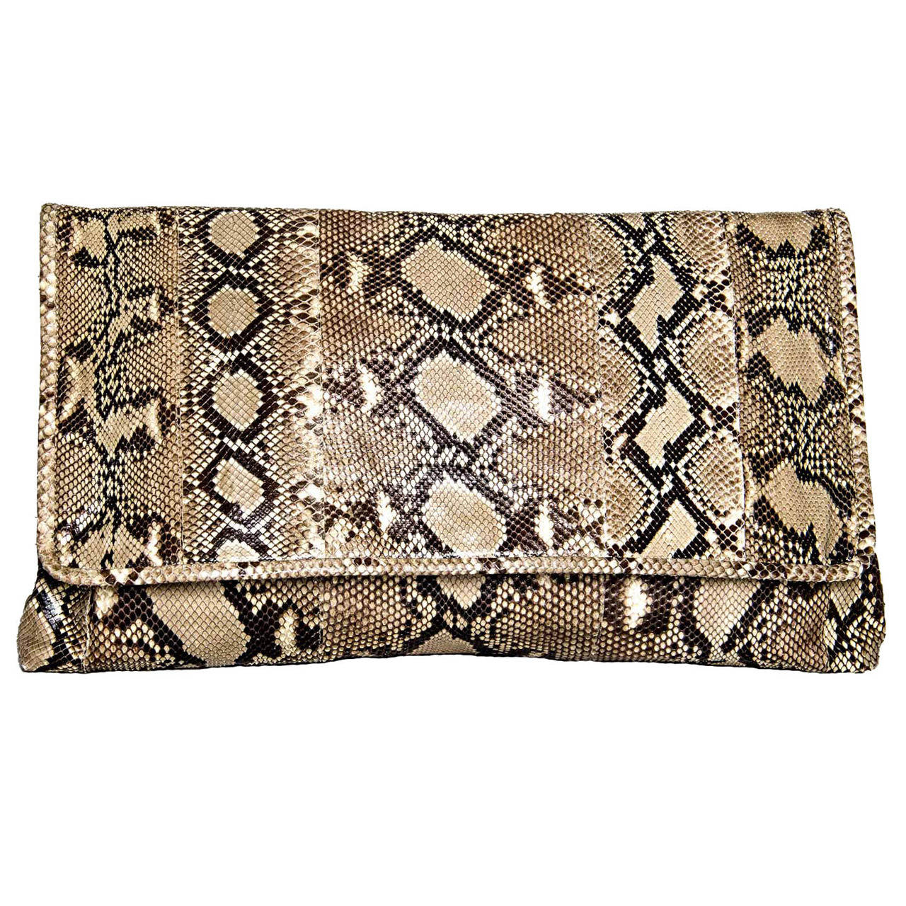 76b433e40391 Prada Bag Python Large Clutch For Sale at 1stdibs
