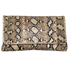 Prada Bag Python Large Clutch