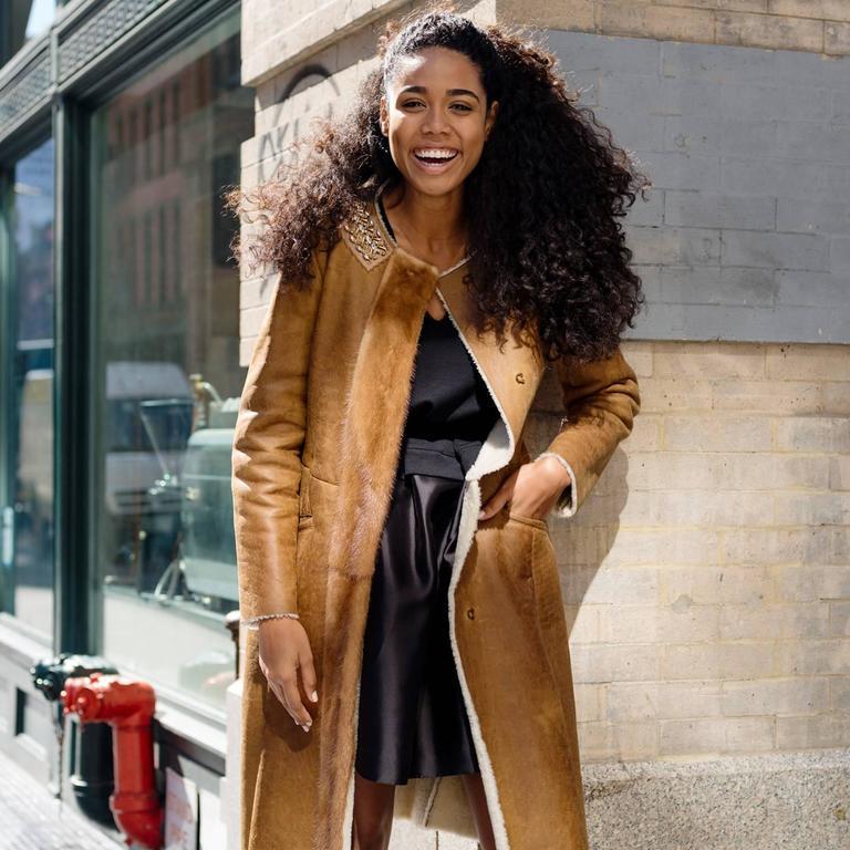 Prada Brown Shearling & Leather Coat 5
