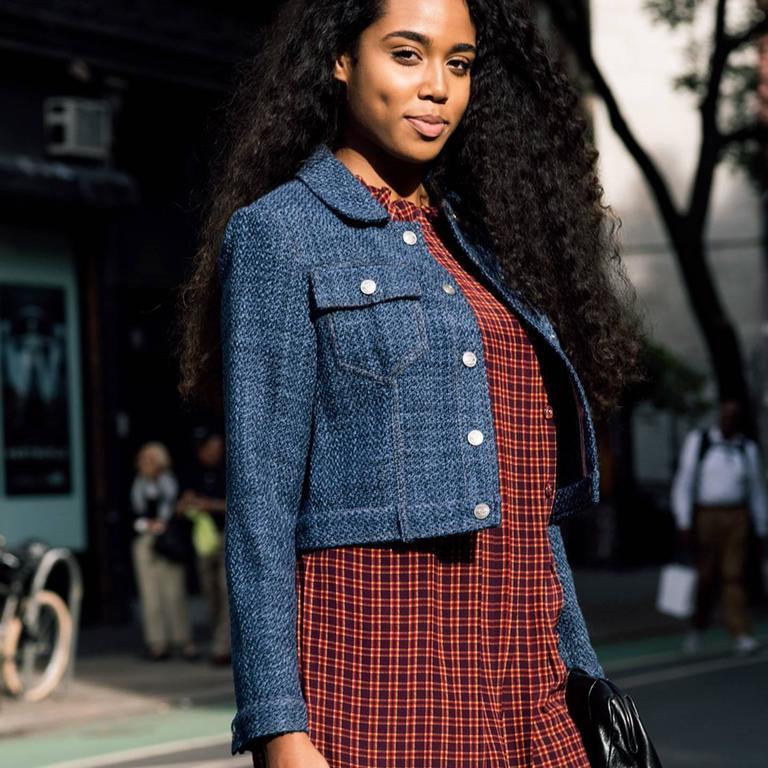 Chanel Indigo Wool Short Trucker Style Jacket 5