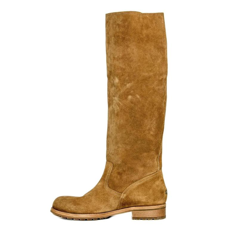 Women's Jimmy Choo Brown Suede Knee Height Boot For Sale