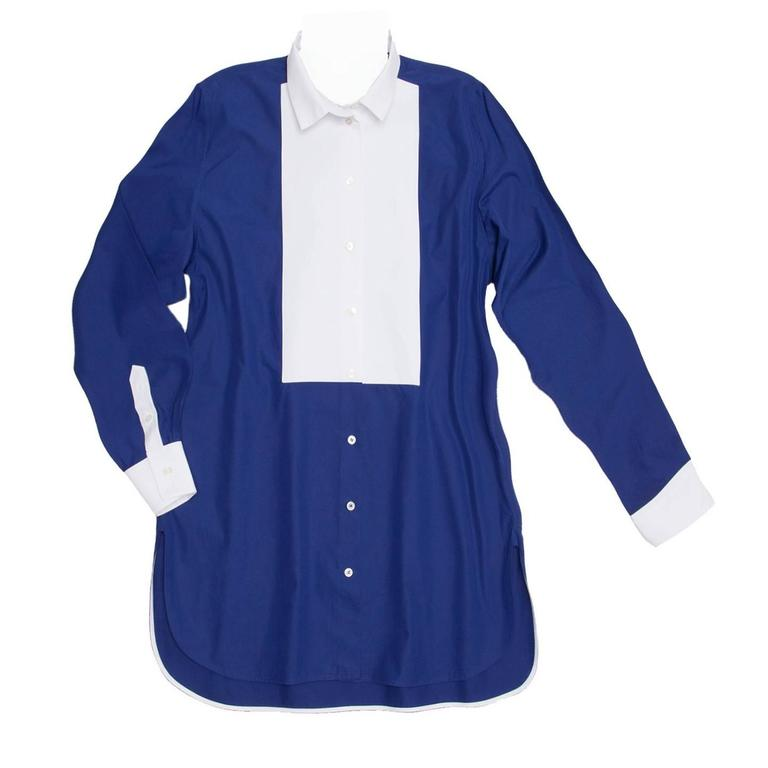Celine Blue & White Cotton Shirt