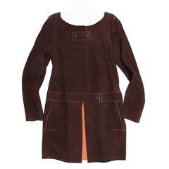 Chloe' Brown & Orange Suede Coat