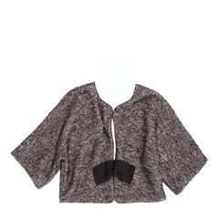 Lanvin Grey Tweed Cropped Jacket