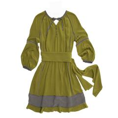 Derek Lam Green Peasant Style Dress