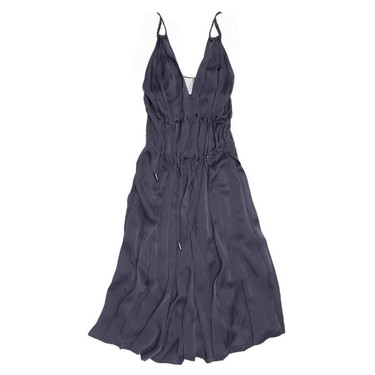 Lanvin Lilac Silk Pleated Dress