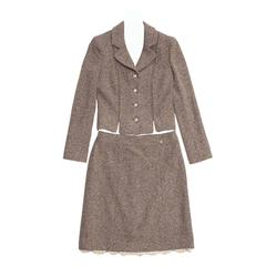 Chanel Brown Tweed Skirt Suit