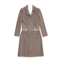 Chanel Brown Tweed Skirt Suit
