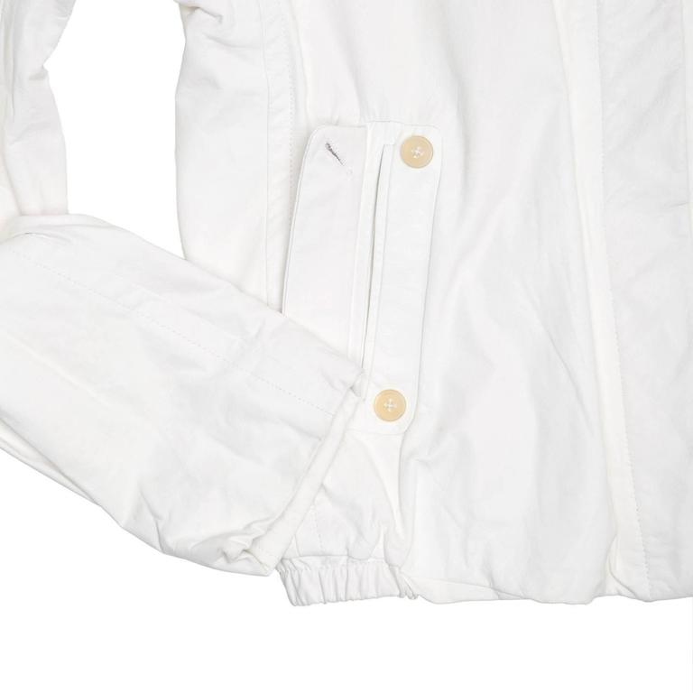 Jil Sander White Leather Bomber Jacket 6