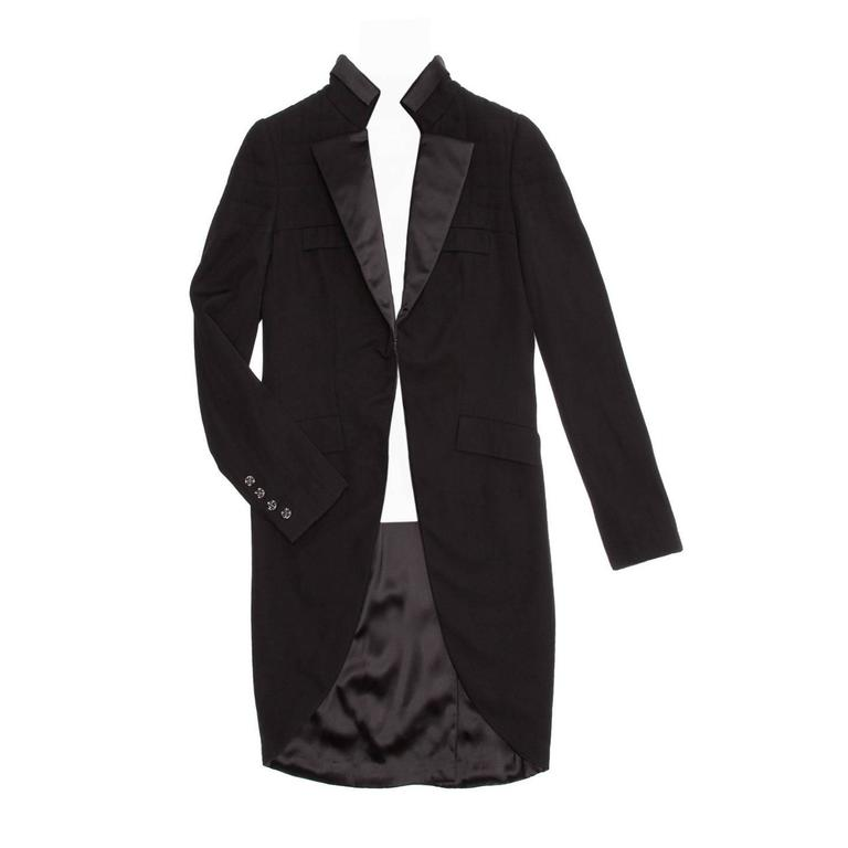 Chanel Black Tuxedo Jacket With Tails