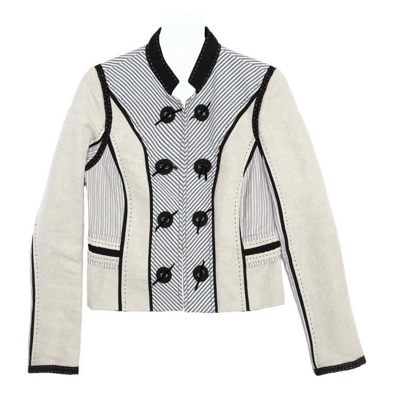 Chloe' Multicolor Cotton & Linen Jacket