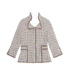 Chanel Multicolor Cotton Houndstooth Jacket