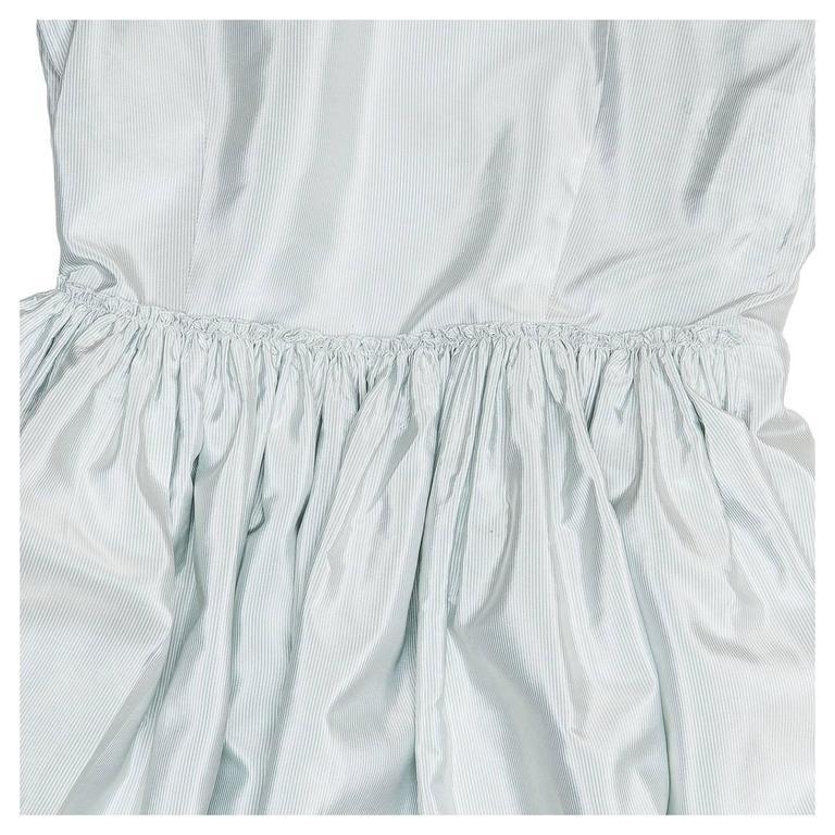 Prada Sky Blue Silk Shirt Dress 6