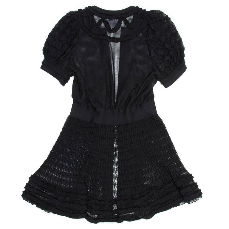 Chanel Black Knit Open Front Coat Dress 3