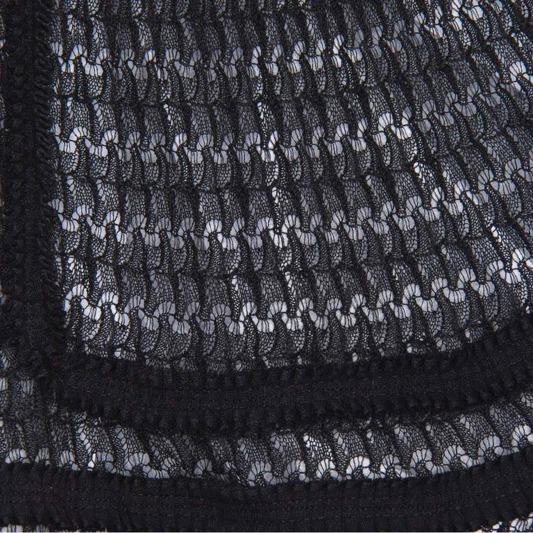 Chanel Black Knit Open Front Coat Dress 4