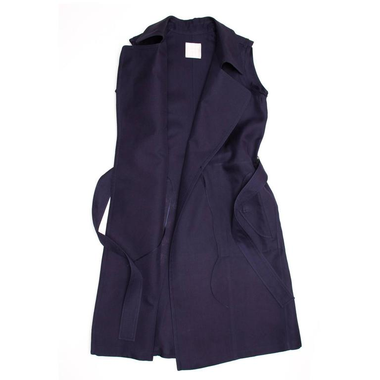 Lanvin Navy Sleeveless Trench Style Dress 3