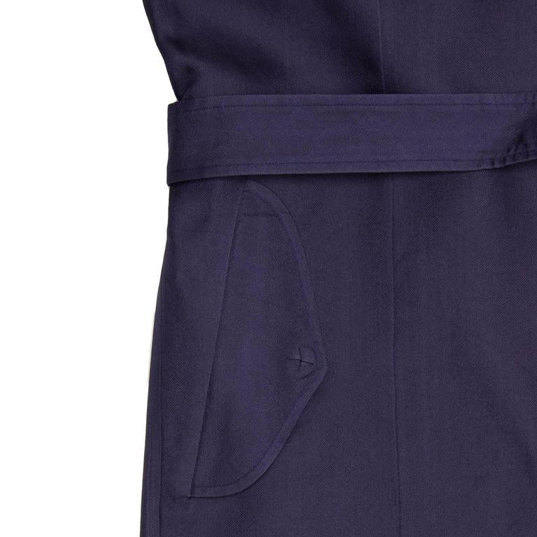 Lanvin Navy Sleeveless Trench Style Dress 6
