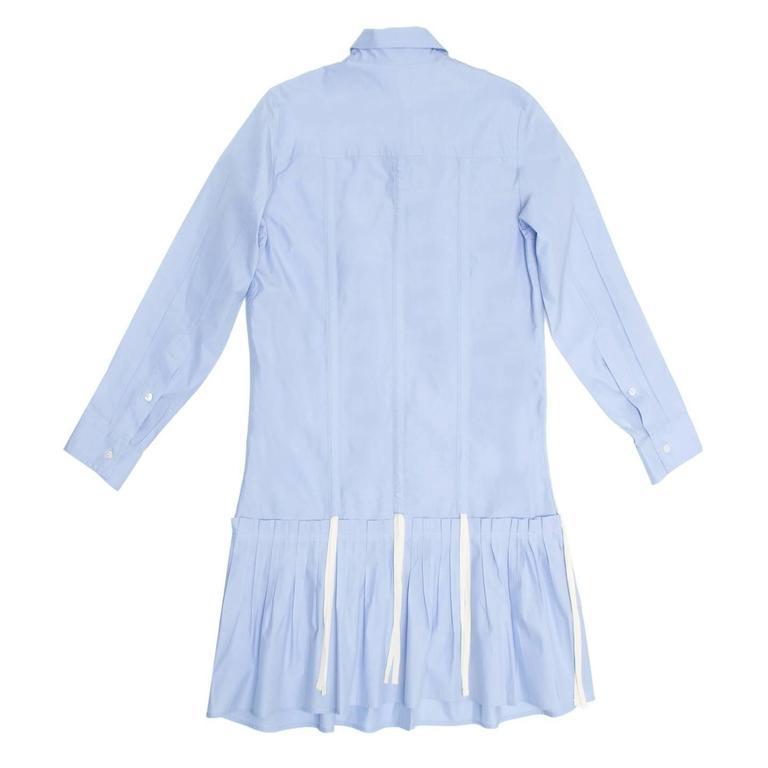 Louis Vuitton Sky Blue Pleated Shirt Dress 3