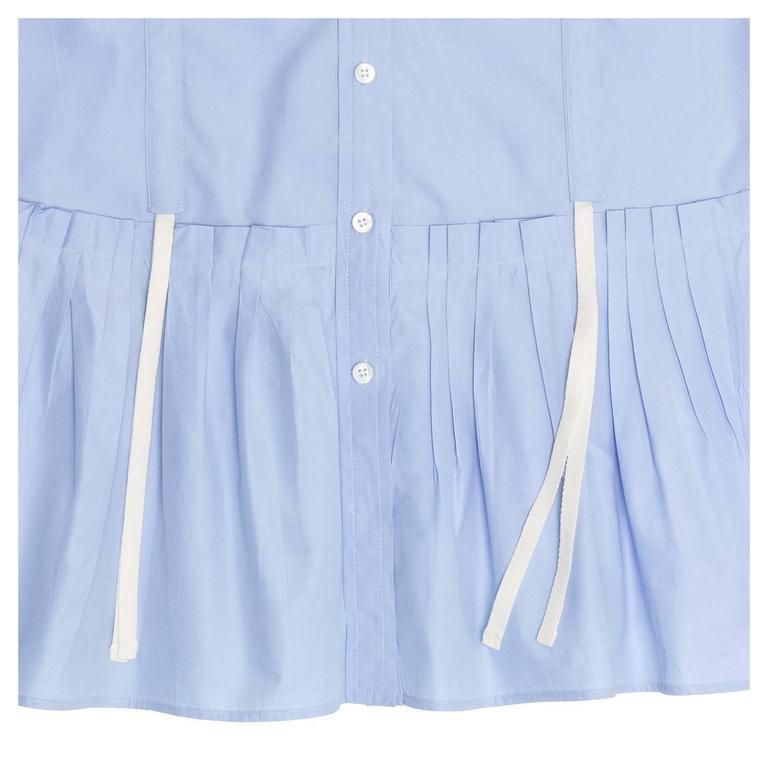 Louis Vuitton Sky Blue Pleated Shirt Dress 5