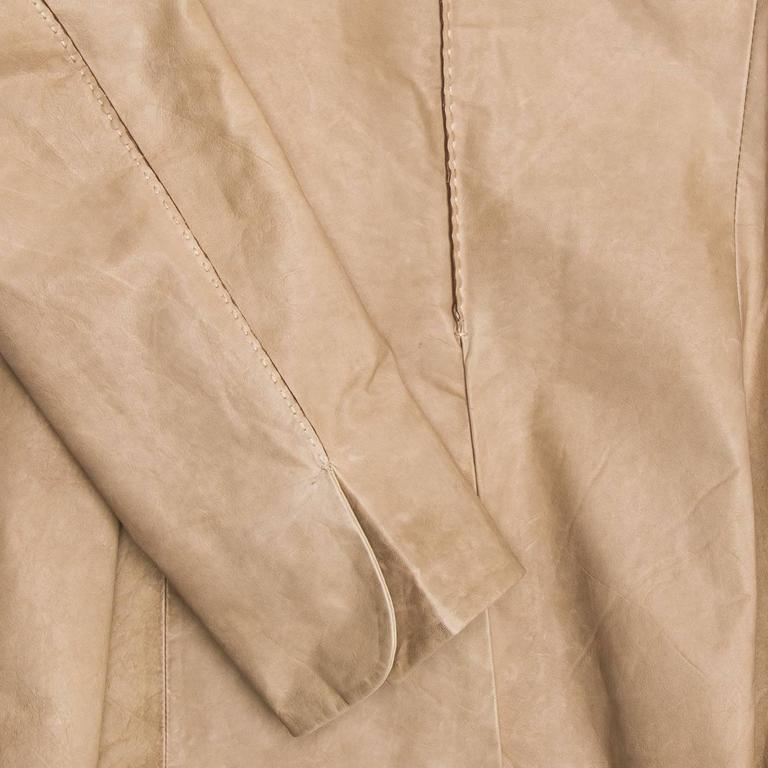 Jil Sander Sand Leather Blazer 5