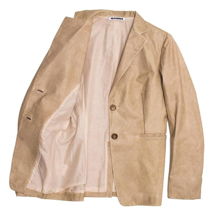 Jil Sander Sand Leather Blazer 3