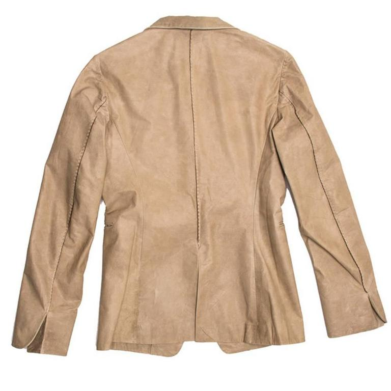 Jil Sander Sand Leather Blazer 4
