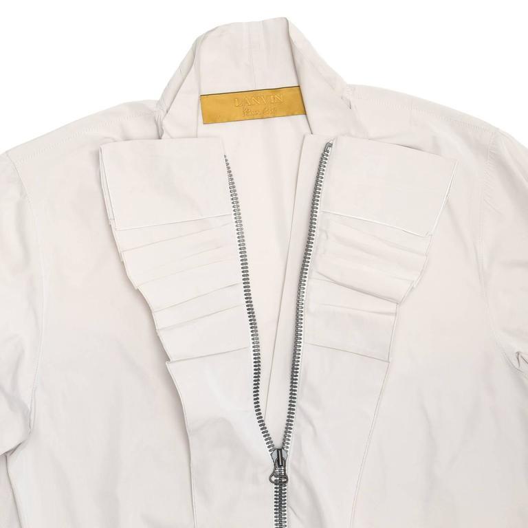 Lanvin Warm Grey Silk Shirt 4