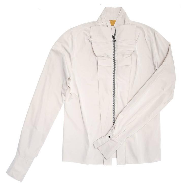 Lanvin Warm Grey Silk Shirt 2