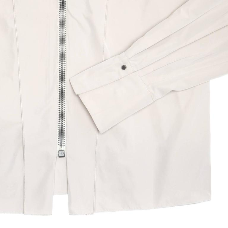 Women's Lanvin Warm Grey Silk Shirt For Sale