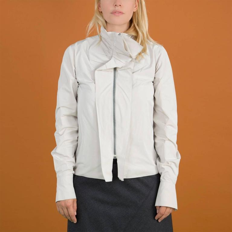 Lanvin Warm Grey Silk Shirt For Sale 1