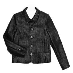 Saint Laurent Black Patent Texture Jacket