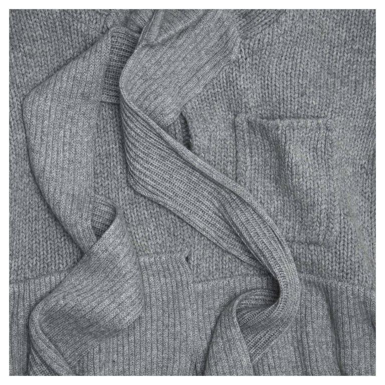 Louis Vuitton Grey Cashmere Wrap Cardigan 6