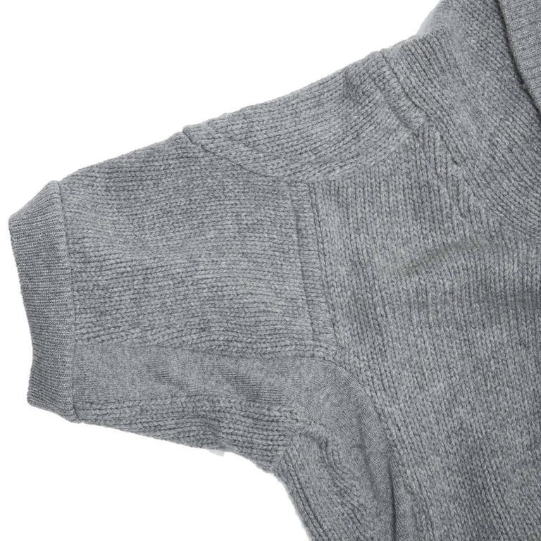 Louis Vuitton Grey Cashmere Wrap Cardigan 5