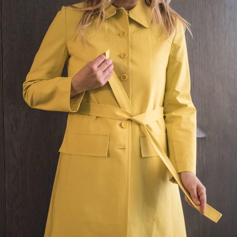 Marni Yellow Rain Coat For Sale 3