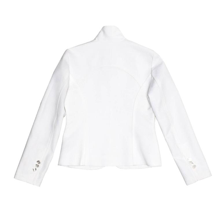Gray Louis Vuitton White Cotton Piquet Blazer For Sale
