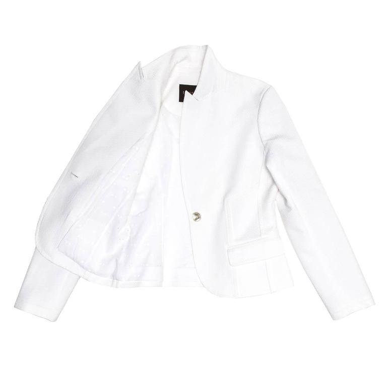 Louis Vuitton White Cotton Piquet Blazer In New Condition For Sale In Brooklyn, NY