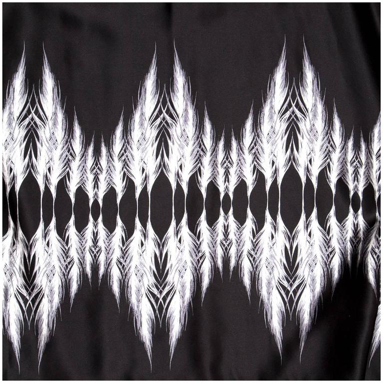 Thomas Wylde Black & White Silk Kaftan For Sale 1