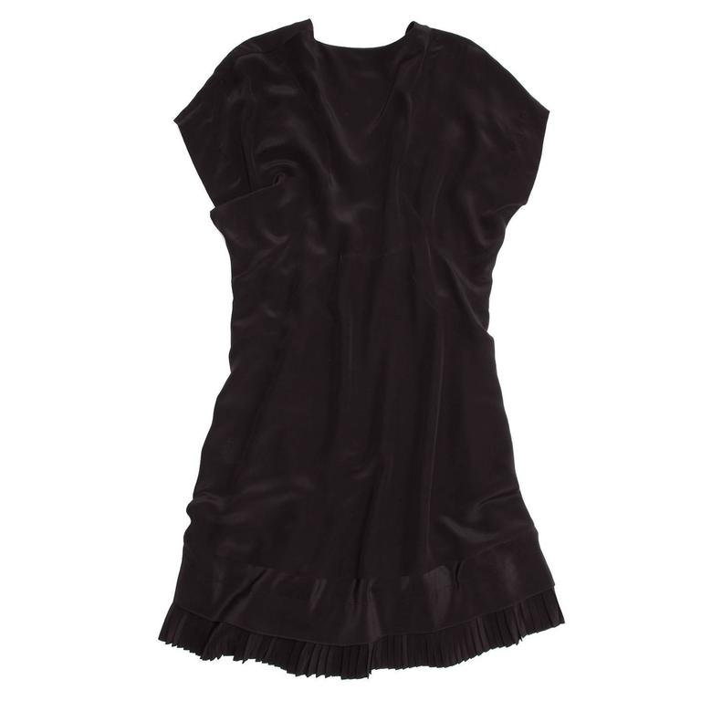 Balenciaga Black Silk Short Dress 3