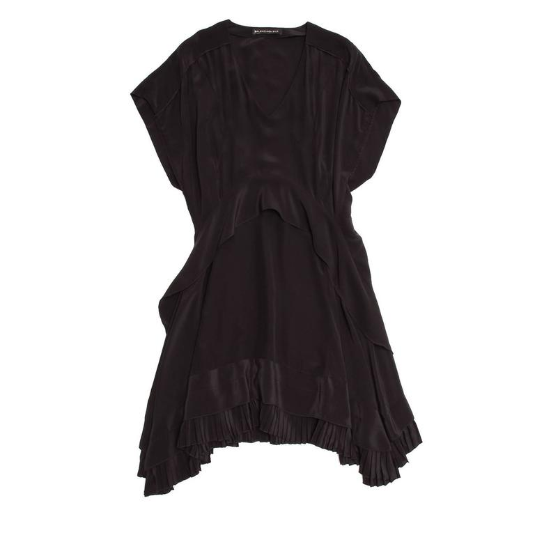 Balenciaga Black Silk Short Dress 2