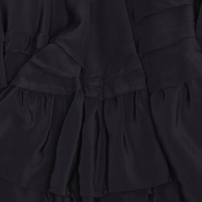 Balenciaga Black Silk Long Halter Dress 4