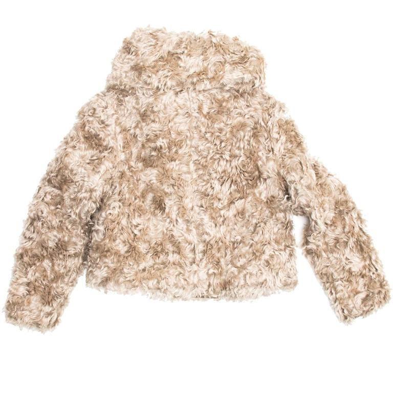 Prada Beige Mohair Cropped Jacket For Sale 1