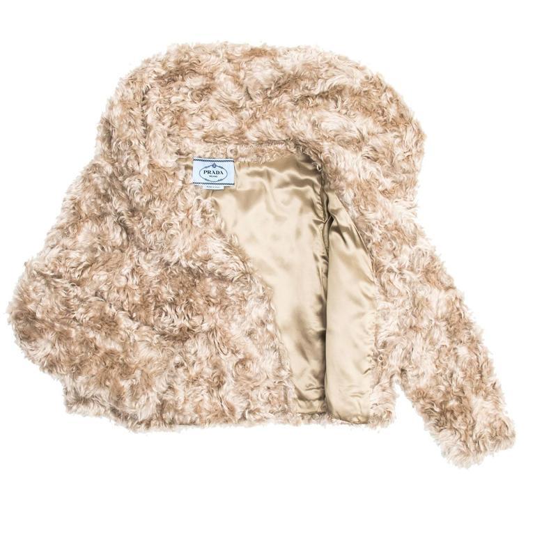 Women's Prada Beige Mohair Cropped Jacket For Sale