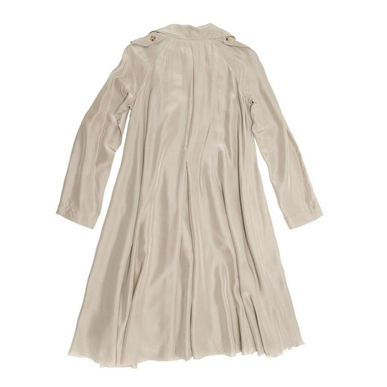 Lanvin Taupe Silk Trench Coat 5