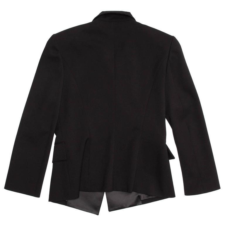 Women's Balmain Black Wool Tuxedo Jacket For Sale