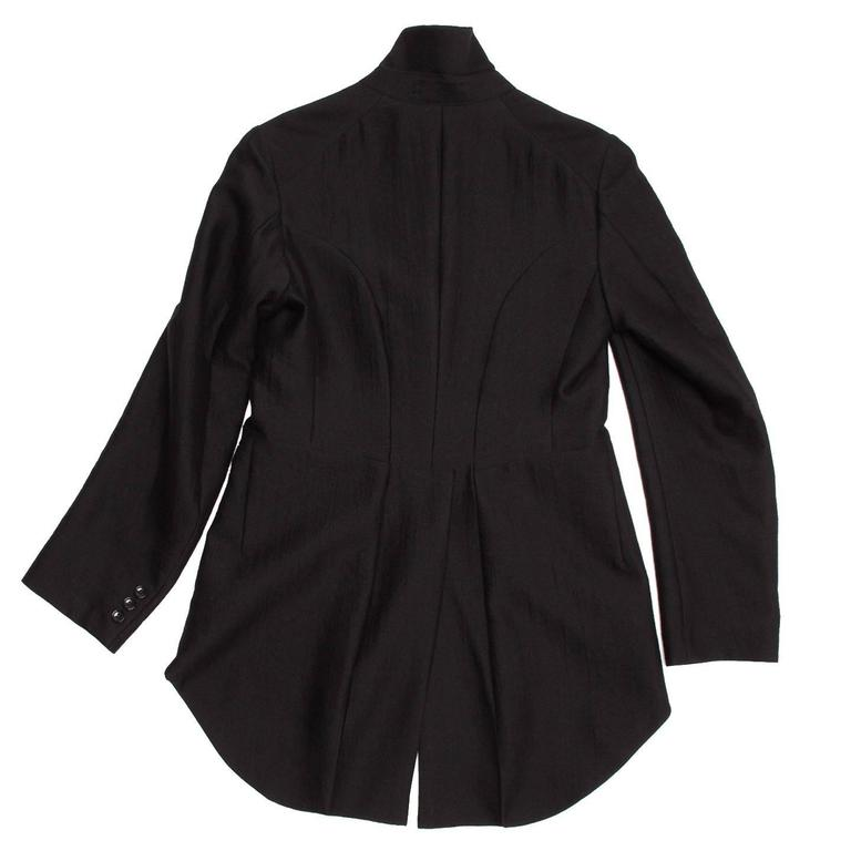 Women's Comme des Garçons Black Wool Horse Riding Blazer For Sale