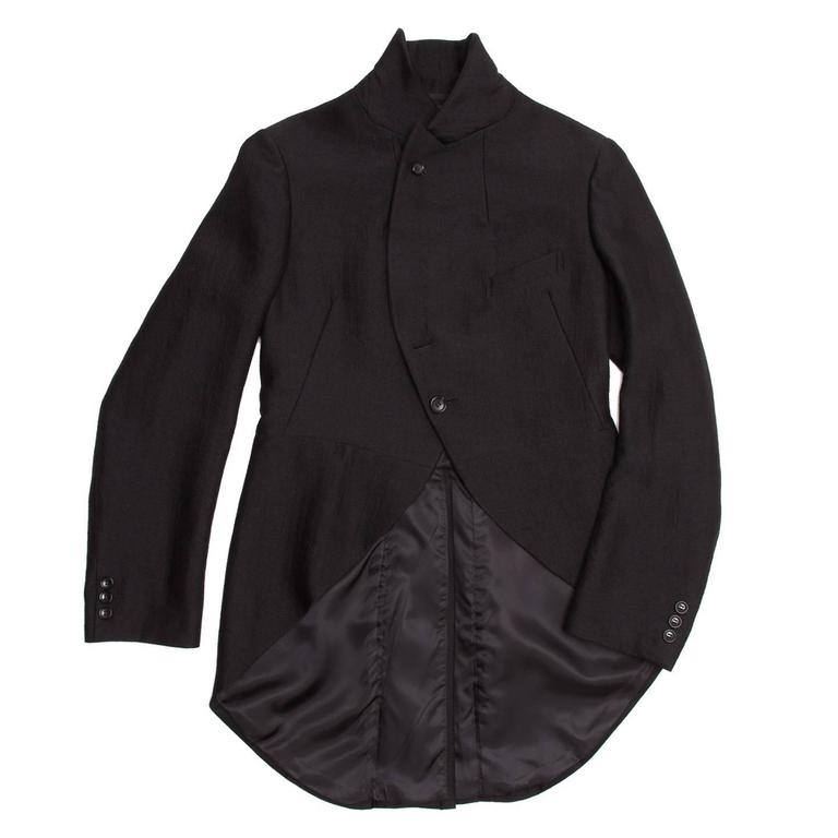Comme des Garçons Black Wool Horse Riding Blazer In Excellent Condition For Sale In Brooklyn, NY