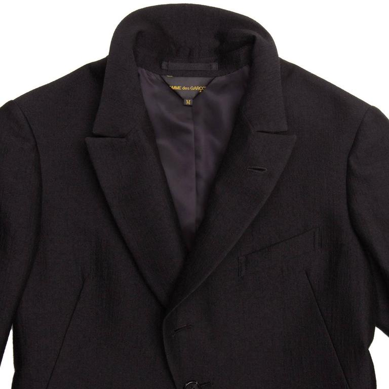 Comme des Garçons Black Wool Horse Riding Blazer For Sale 1