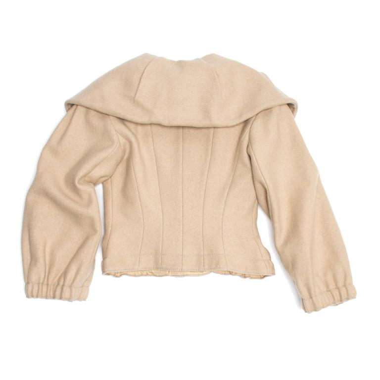 Louis Vuitton Beige Wool Shawl Collar Jacket In New Condition For Sale In Brooklyn, NY