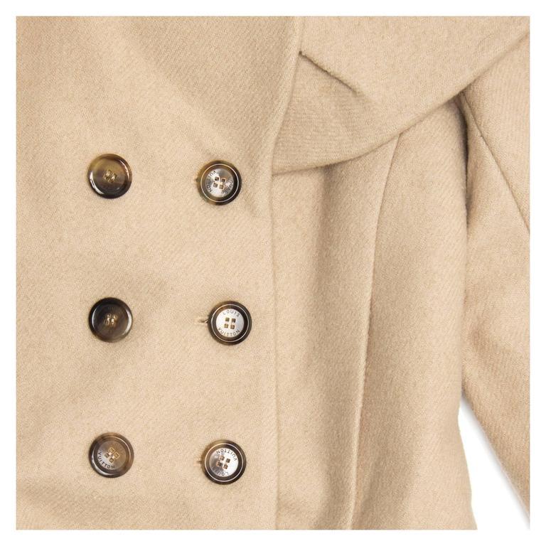 Women's Louis Vuitton Beige Wool Shawl Collar Jacket For Sale