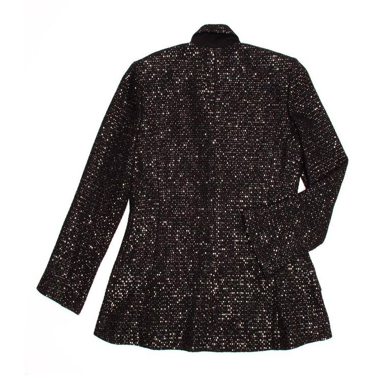 Chanel Black & Gold Sequined Tailored Blazer 3